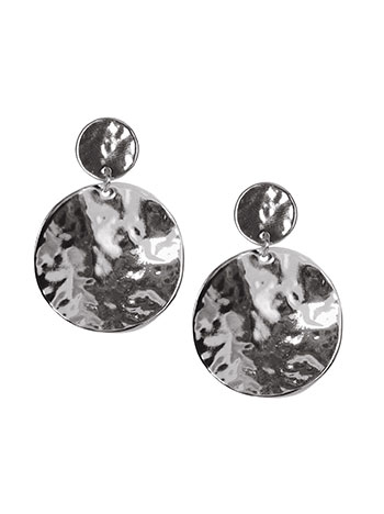 Σκουλαρίκια δίσκοι με ανάγλυφη υφή WL1662.A312+2 κοσμηματα σκουλαρικια