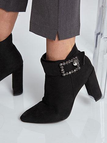 Μποτάκι με αγκράφα με strass WL1681.A579+1 παπουτσια μποτακια