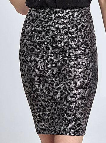 Metallic skirt in leopard print 1e3d03a859d