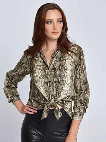 Πουκάμισο σε τύπωμα φίδι WL453.3828+1 μπλουζεσ πουκαμισα