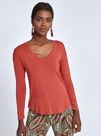 Μπλούζα με καμπύλη στο τελείωμα WL4633.4001+1