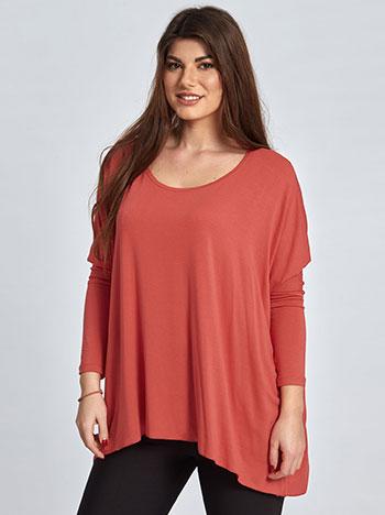 Μακρυμάνικη μακριά μπλούζα WL4637.4001+16