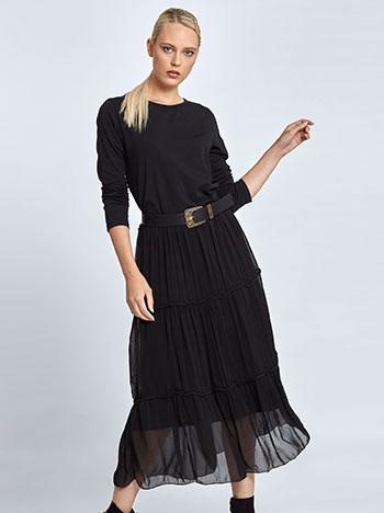 Maxi φόρεμα με βολάν στο τελείωμα WL7772.8412A+1 φορεματα maxi