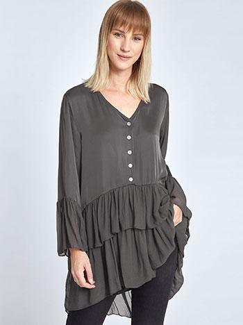 Μακριά μπλούζα με βολάν WL7783.4590+1 μπλουζεσ τουνικ