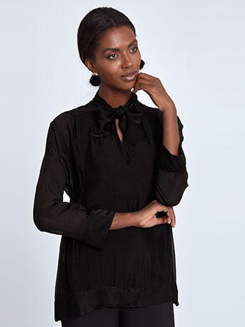 Μπλούζα με δέσιμο στο λαιμό WL7783.4923+1 μπλουζεσ μακρυμανικεσ
