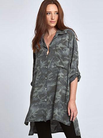 Μακρύ πουκάμισο παραλλαγής WL7814.3060A+2 μπλουζεσ πουκαμισα