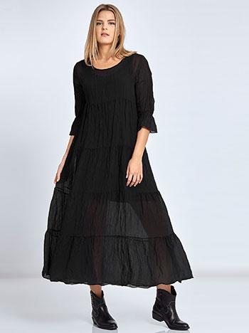Maxi φόρεμα με φάσες WL7814.8050+2 φορεματα maxi