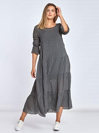 Maxi φόρεμα με φάσες WL7814.8050+1 φορεματα maxi