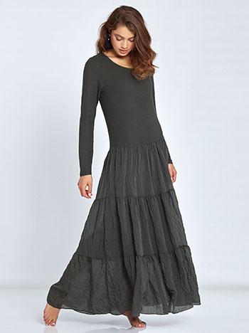 Maxi ριπ φόρεμα με βολάν στο τελείωμα WL7814.8067+1 φορεματα maxi