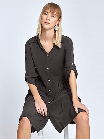 Μακριά πουκαμίσα με βολάν WL7814.8070+1 μπλουζεσ πουκαμισα