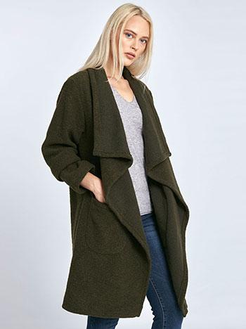 Μπουκλέ παλτό με τσέπες 230b4caf6cd