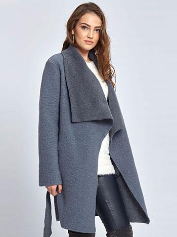 Μπουκλέ παλτό με ζώνη WL7817.7978+5 πανωφορια παλτο