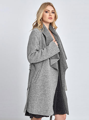 Μπουκλέ παλτό με ζώνη WL7817.7978+6 πανωφορια παλτο