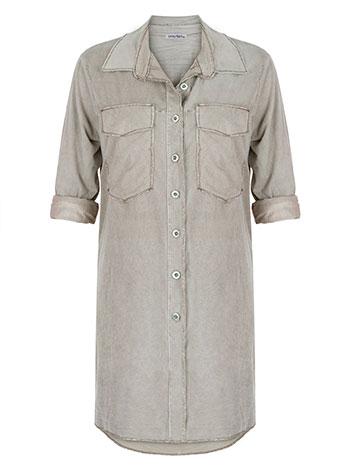 Μακρύ πουκάμισο από βισκόζη WL7844.3745+2 μπλουζεσ πουκαμισα