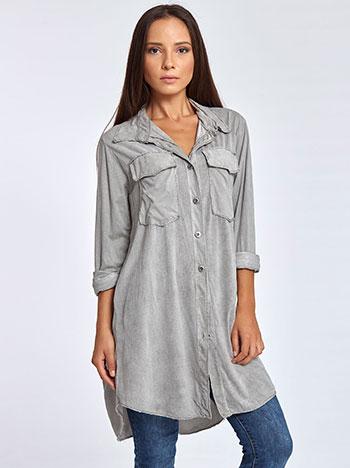 Μακρύ πουκάμισο από βισκόζη WL7844.3745+1 μπλουζεσ πουκαμισα