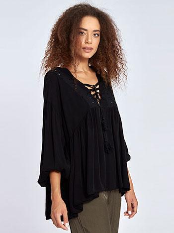 Φαρδιά μπλούζα με κέντημα WL7861.4986+2 μπλουζεσ τουνικ
