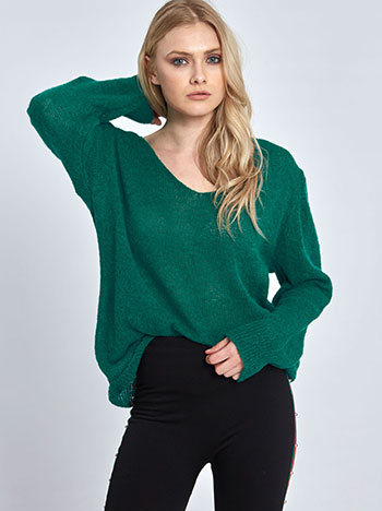 Πλεκτό πουλόβερ WL7864.9588+14 μπλουζεσ πουλοβερ