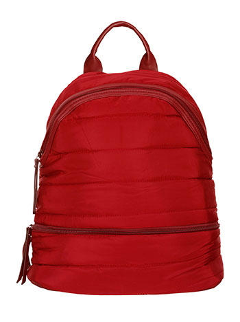 Quilted waterproof backpack red 1852f06c51740