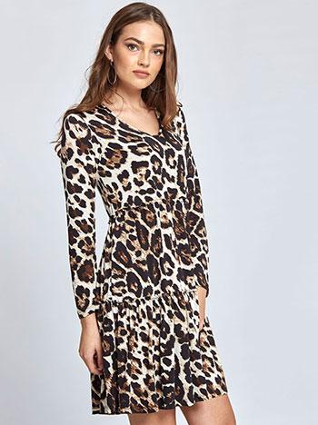 3a99d00ac9e4 Mini λεοπάρ φόρεμα με βολάν WL8433.8006+2 Celestino
