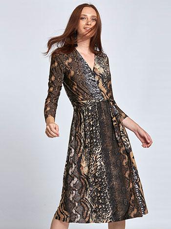 e5187478f9cd Midi κρουαζέ φόρεμα σε animal print WL8438.8001+1 WL8438.8001+1 ⋆ e ...