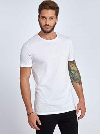 Μπλούζα από βαμβάκι με γυριστό μανίκι WL9402.9001+2