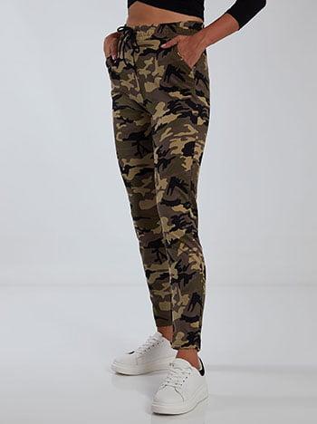 Παντελόνι φόρμας παραλλαγής, ελαστική μέση, με τσέπες, εσωτερικό κορδόνι, καφε ανοιχτο