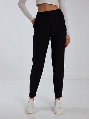 Ριπ παντελόνι, ελαστική μέση, με τσέπες, μαυρο