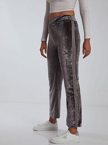 Βελούδινο παντελόνι, ελαστική μέση, γκρι