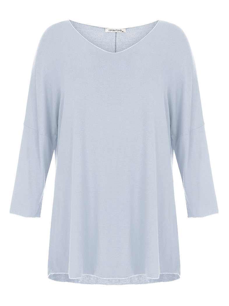 55349b2387b5c Top in viscose-blend with lurex details baby blue