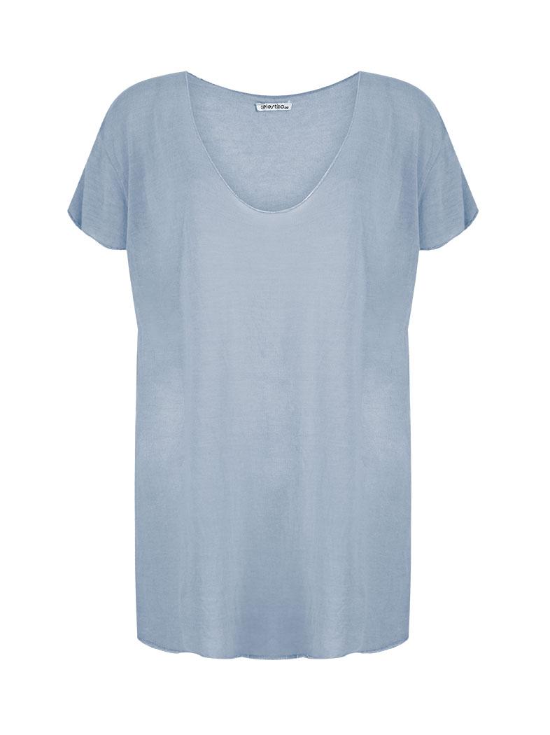 1e06cb2d6e20e Plus size viscose top with lurex details in baby blue