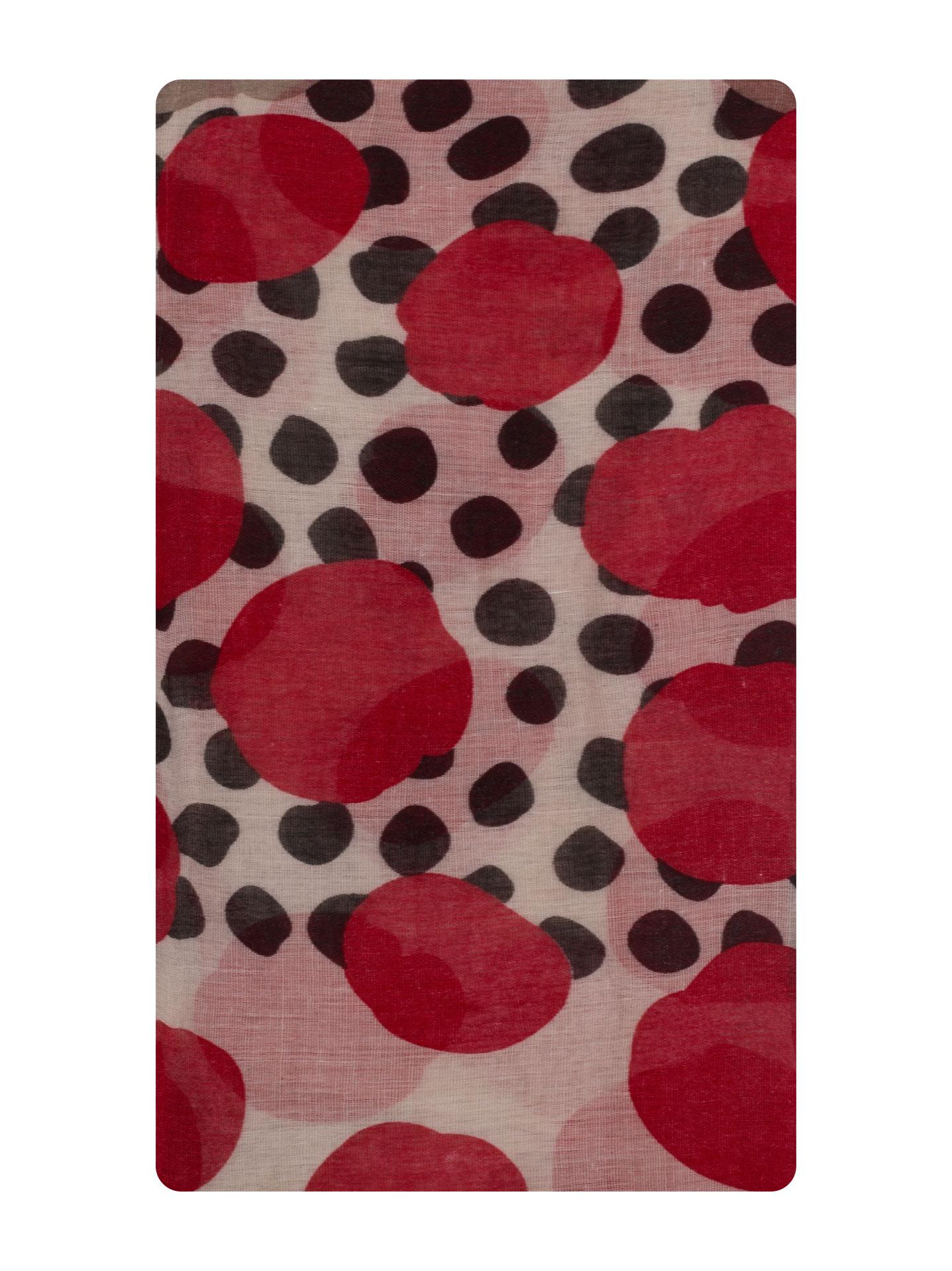ce4b8b985441 Polka dot scarf in light brown