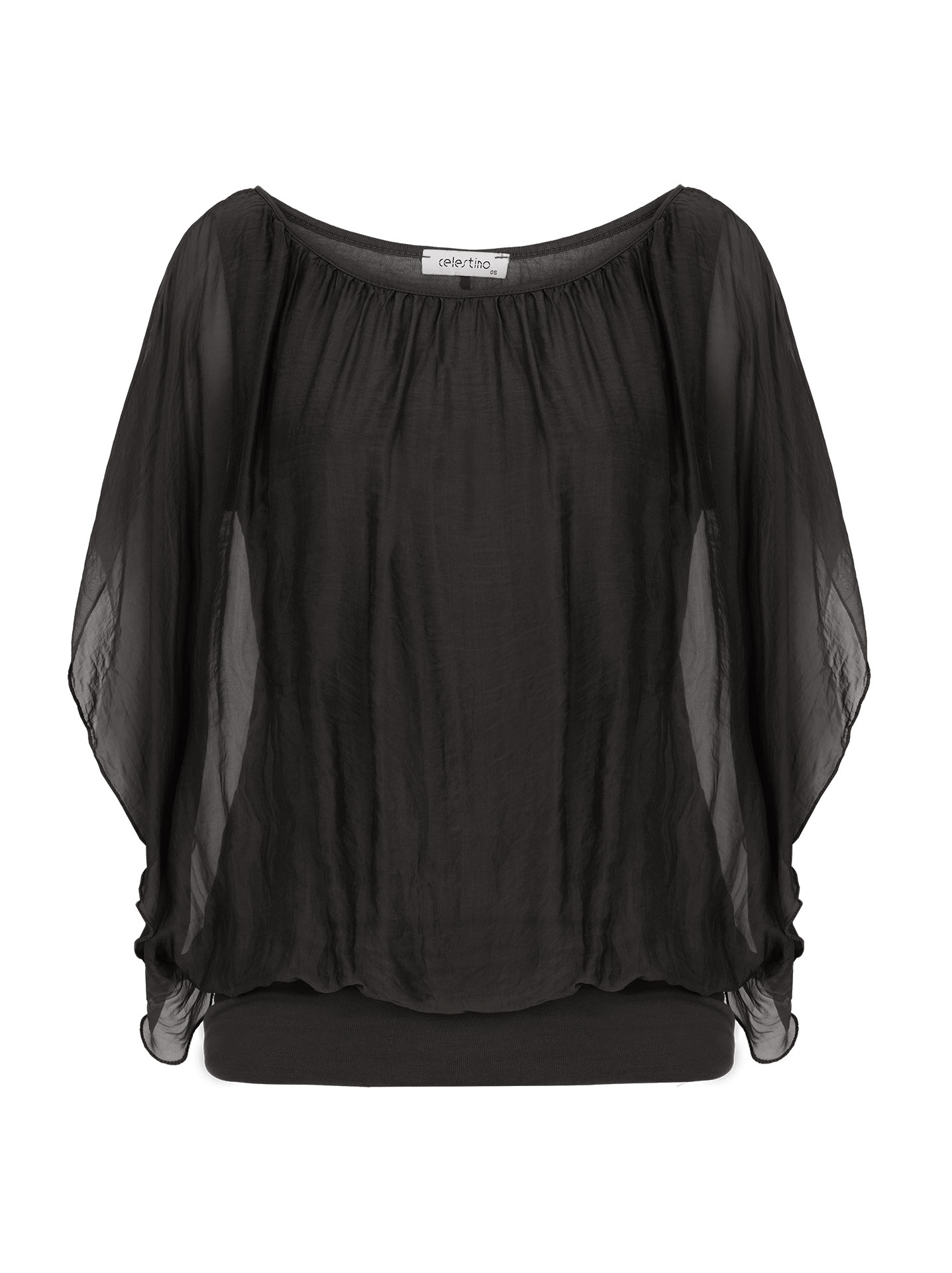 09ad51f09cbd Μπλούζα με διπλό ύφασμα σε μαυρο