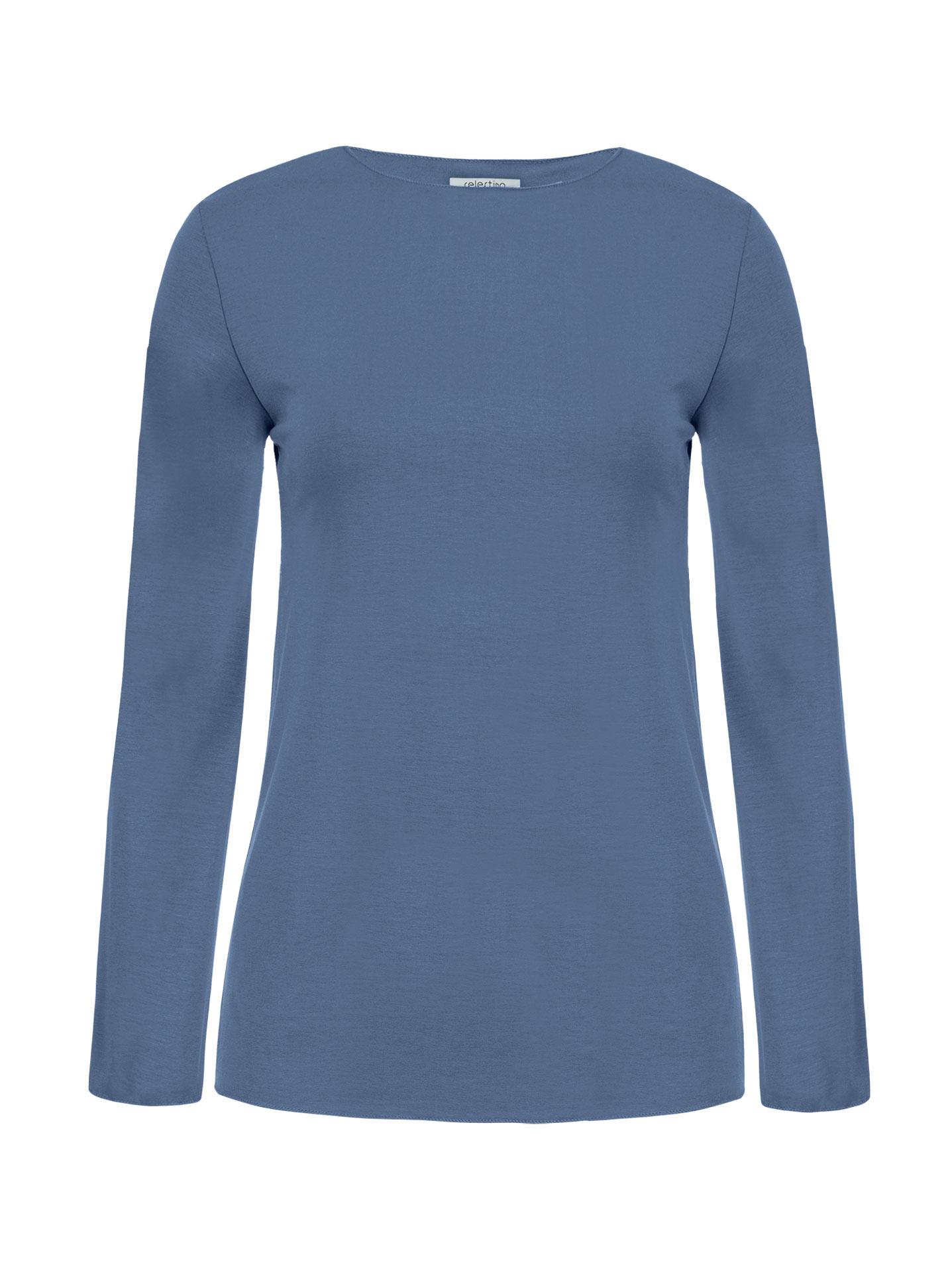 8df9b74b6e35 Μακρυμάνικη μπλούζα σε μπλε ραφ