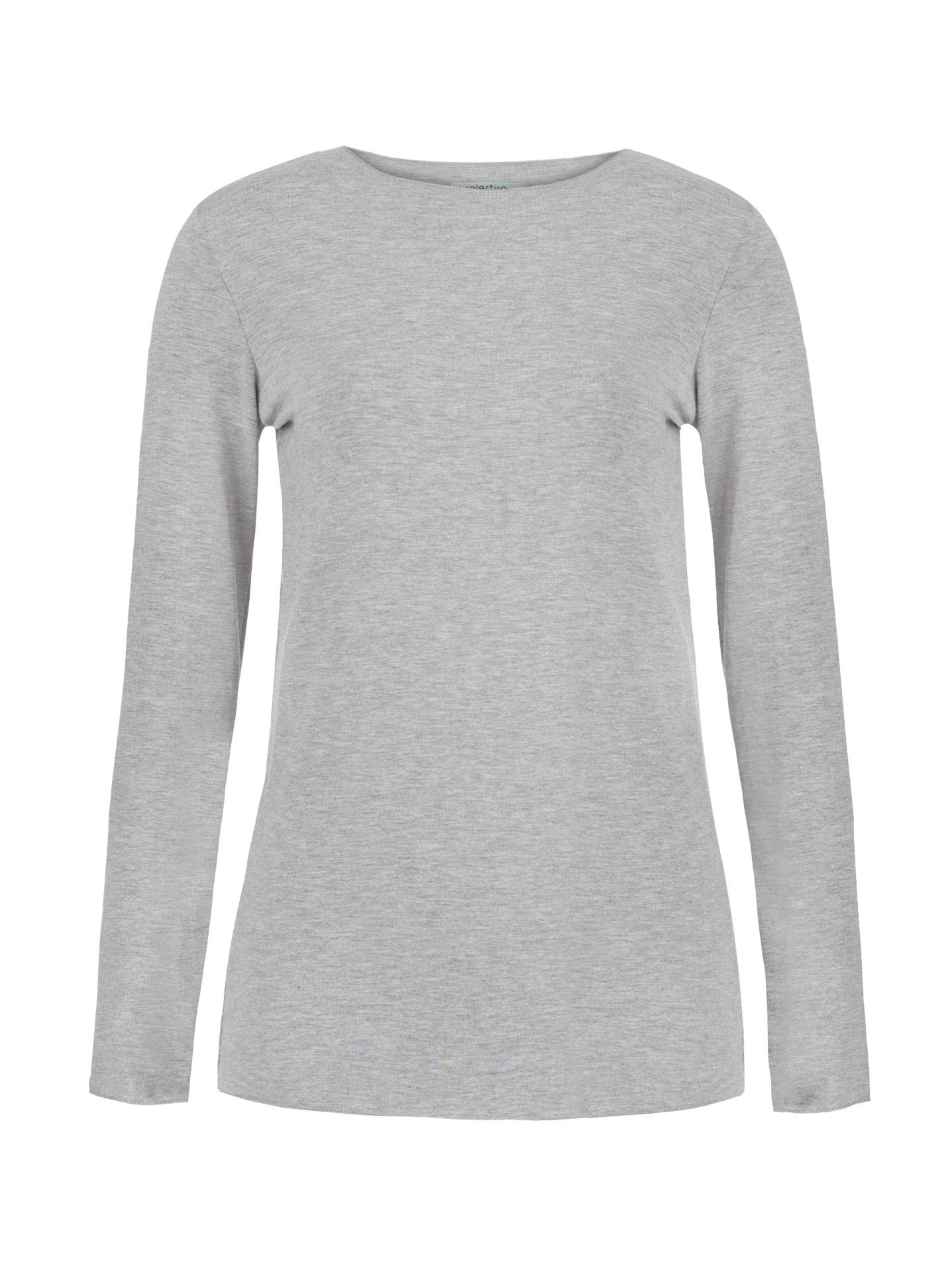 acd48fa43fe6 Μακρυμάνικη μπλούζα σε γκρι ανοιχτο
