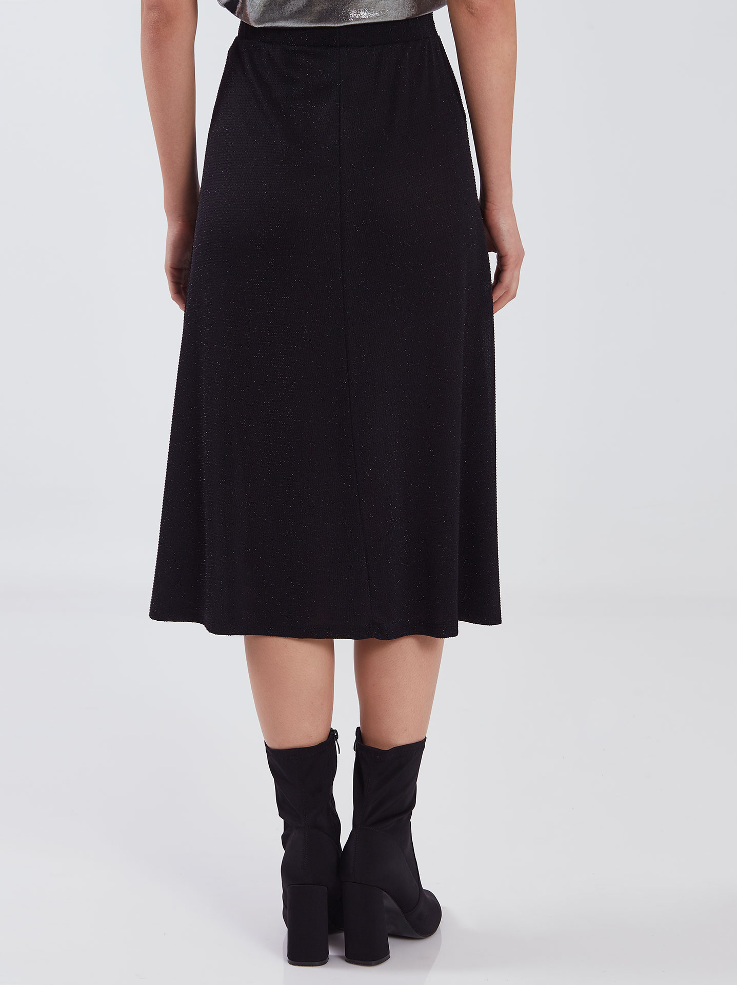 Midi φούστα με τούλι μαυρο Celestino
