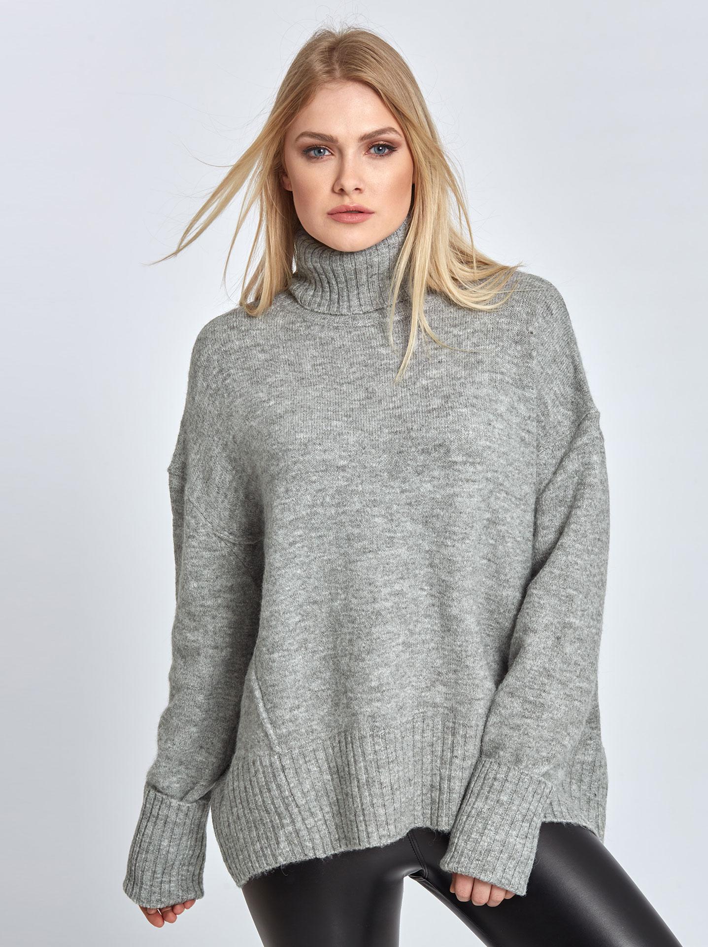 5baaa9627d9b Ζιβάγκο πλεκτό πουλόβερ σε γκρι