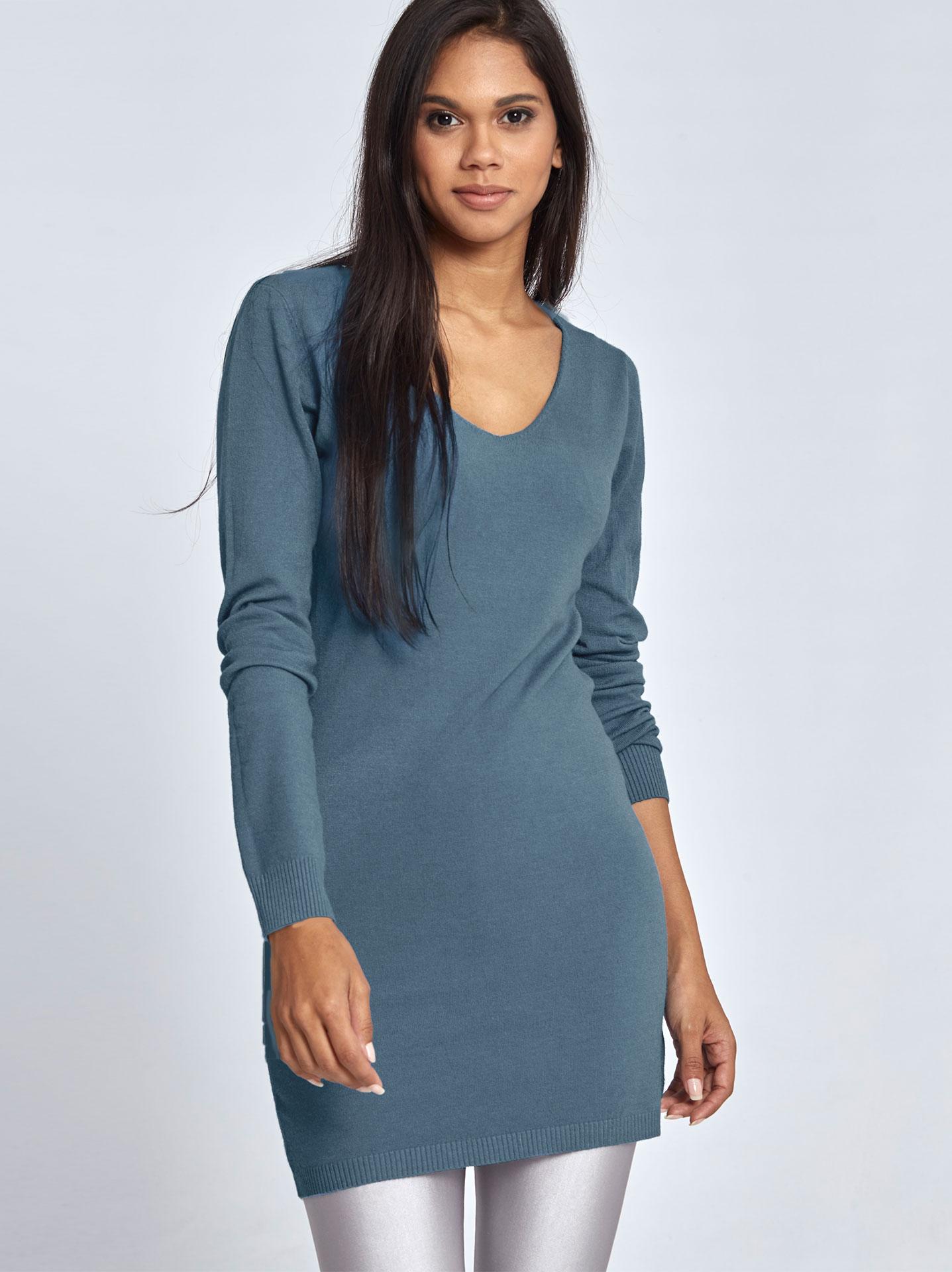 92e7e0e1bd46 Μακρύ πουλόβερ σε μπλε ραφ