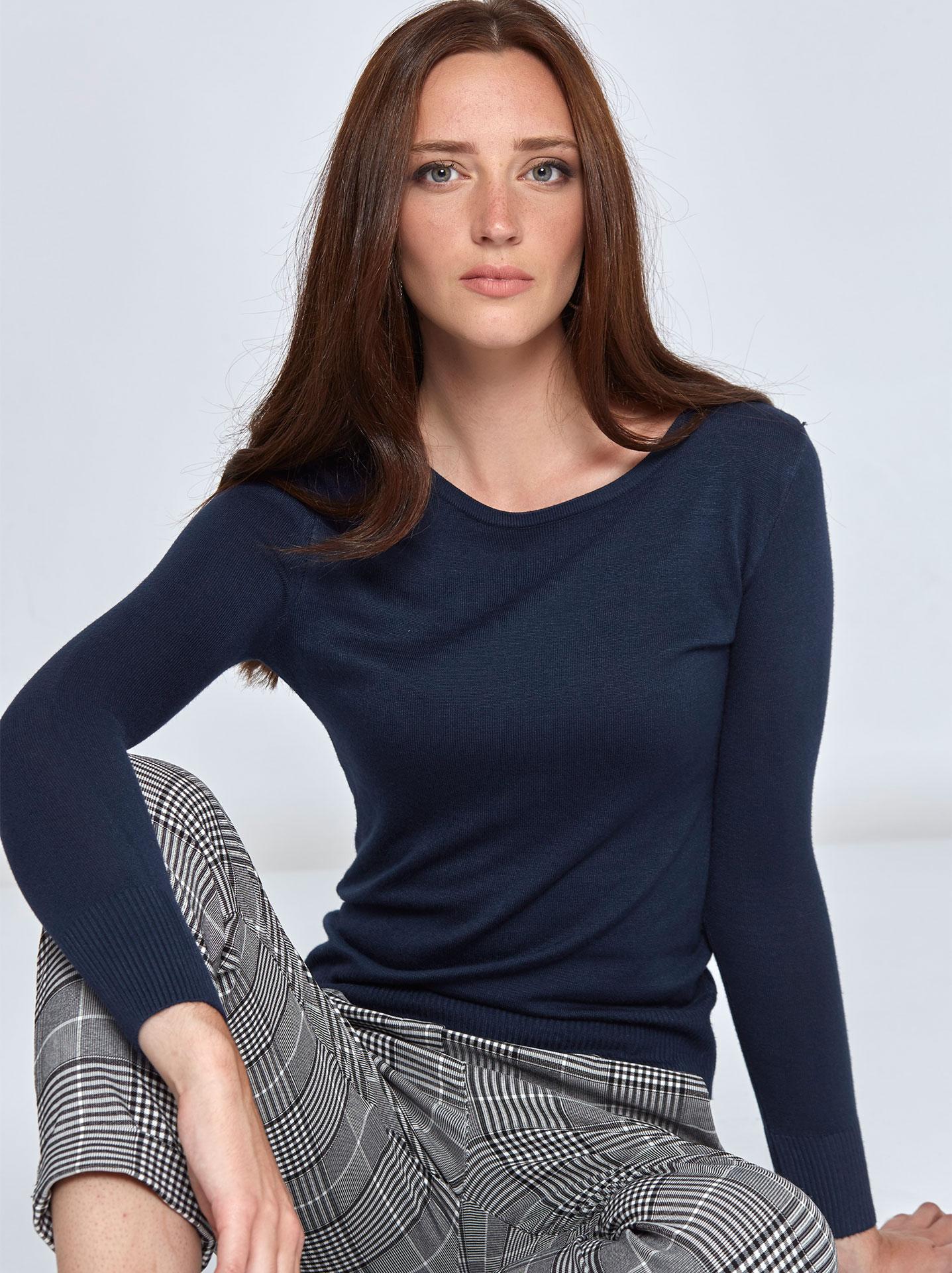 cc61b7709f6f Γυναικεία Ρούχα Πλεκτά-Ζακέτες Πουλόβερ σε λεπτή πλέξη WL1369.9022+6