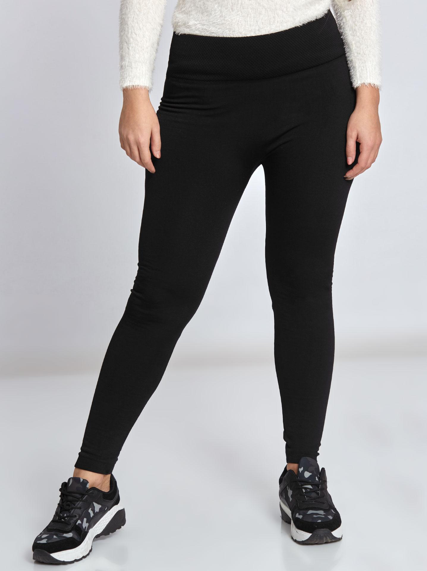 f4b02831dca Plus size fleece lined leggings in black