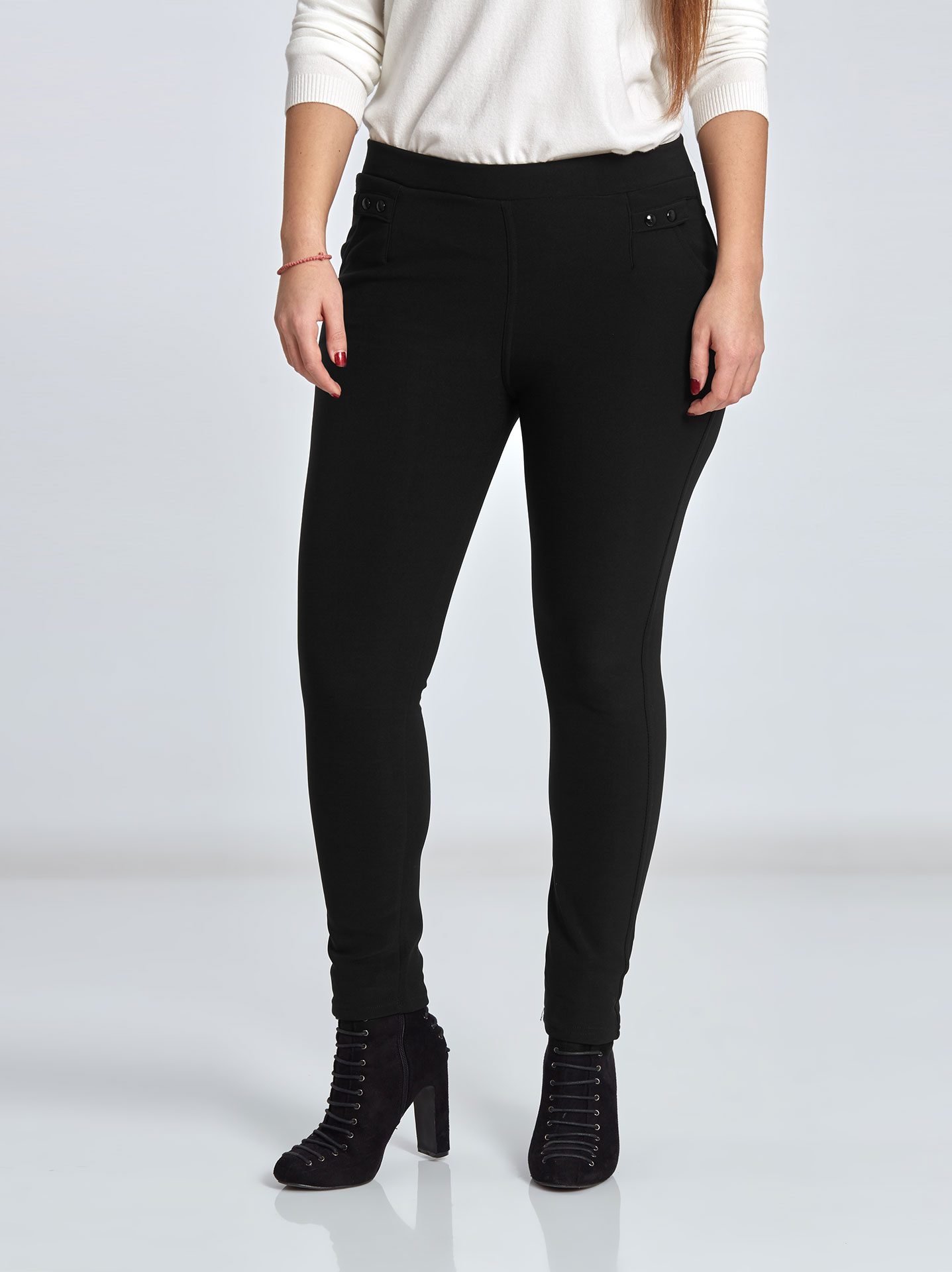 1446544d480 Plus size leggings with pockets in black