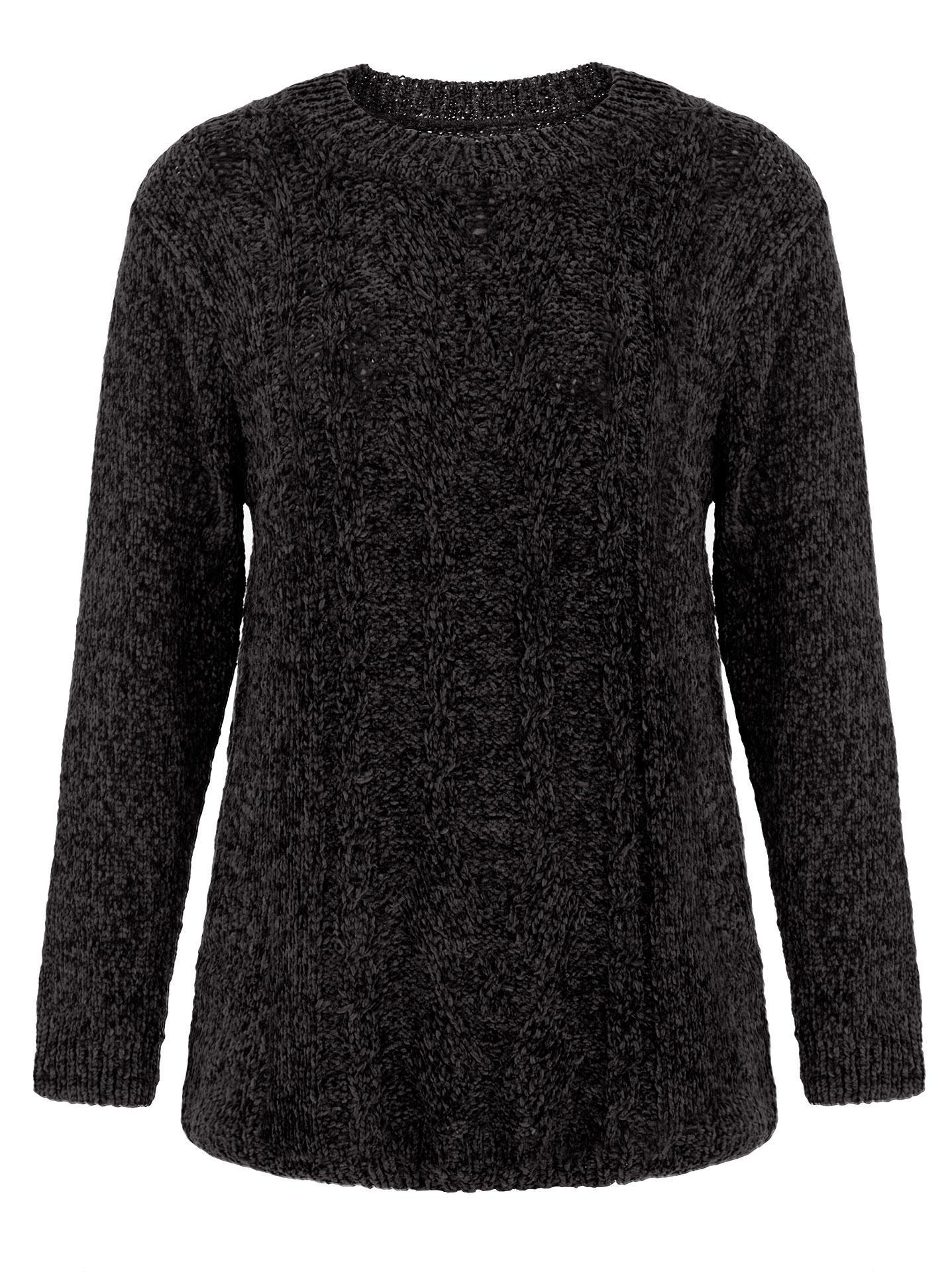 727946b359d0 Chenille πουλόβερ με σχέδιο σε μαυρο