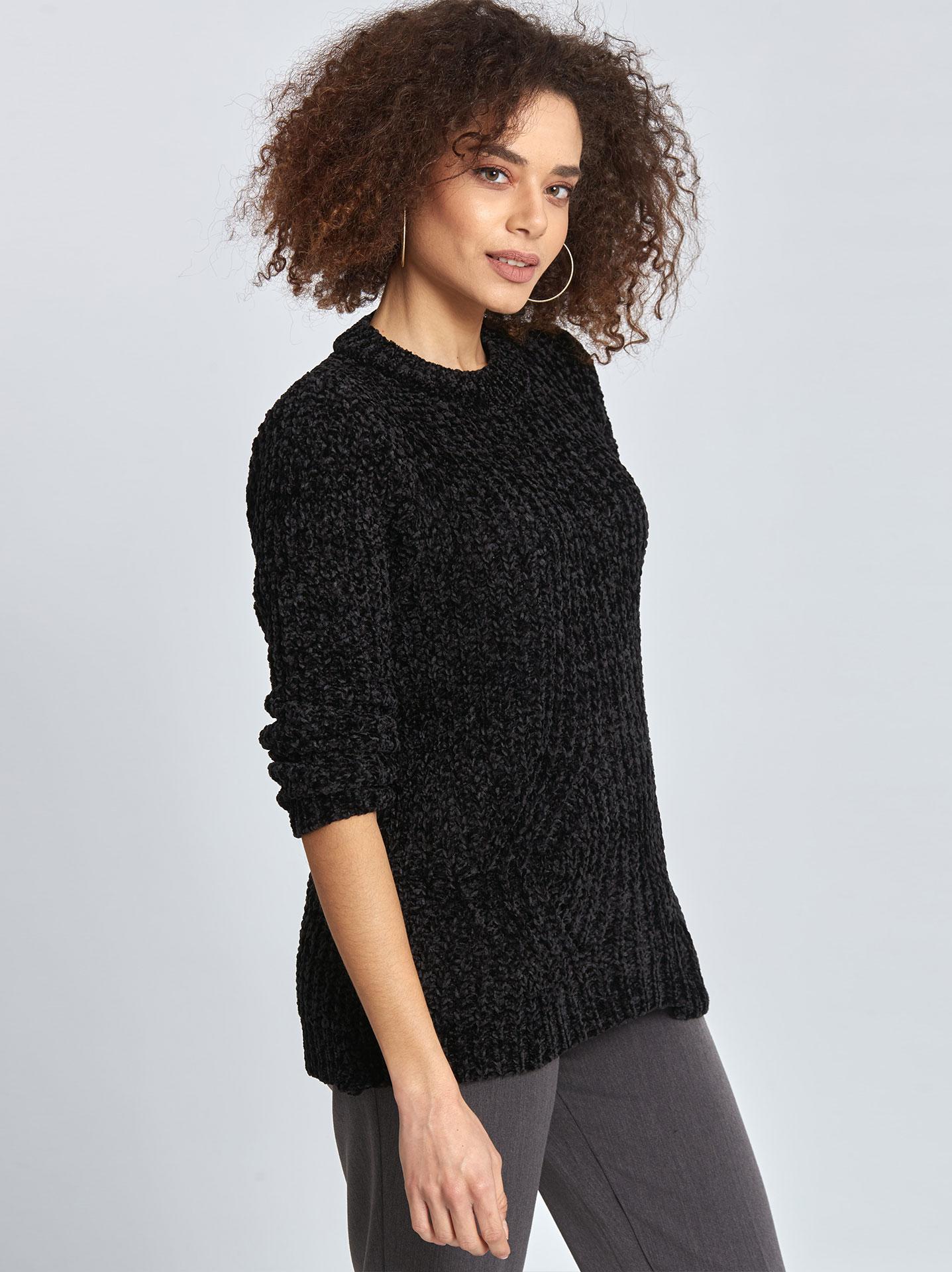 441cbe37b20d Γυναικεία Ρούχα Πλεκτά-Ζακέτες Chenille πουλόβερ με σχέδιο WL1627.9825+4
