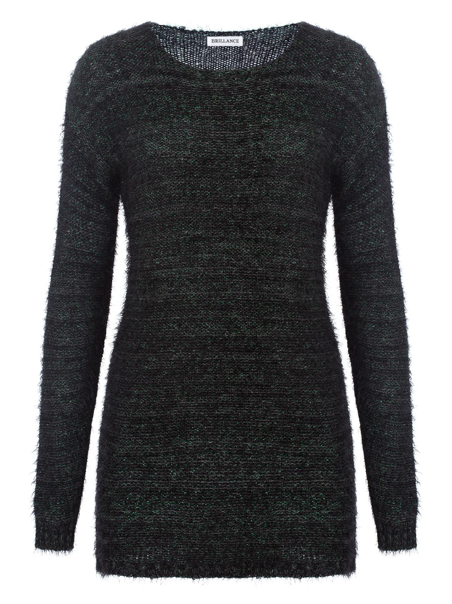 c16ae83d6635 Μακρύ μεταλλιζέ χνουδωτό πουλόβερ σε μιχ 1