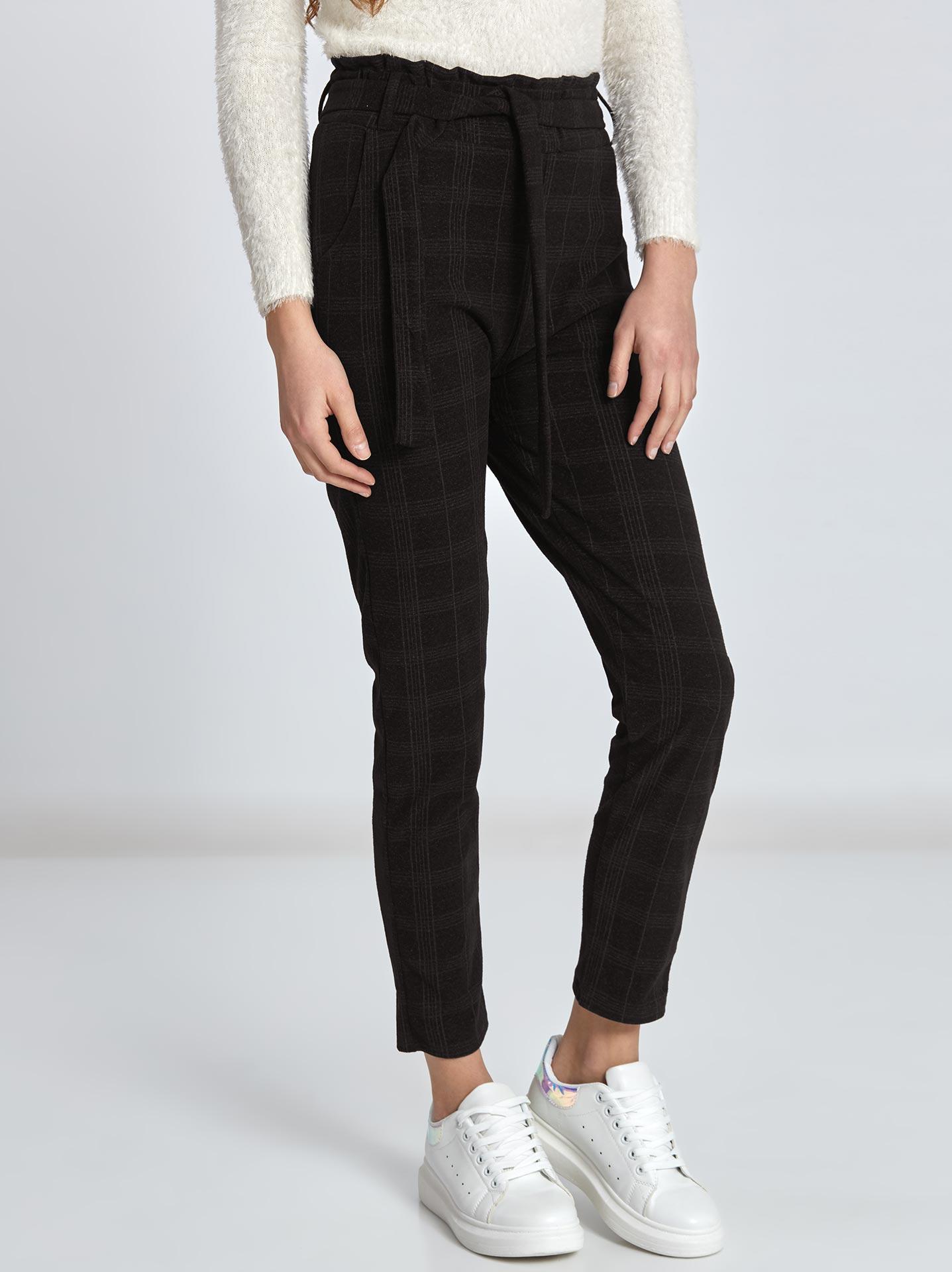 d139c04c5bac Καρό παντελόνι σε μαυρο
