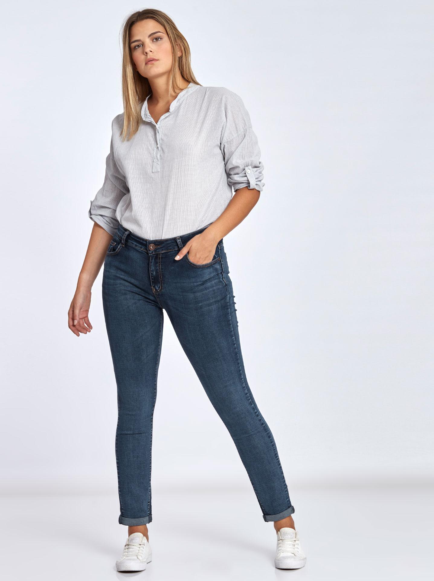 ce15fec6de6 Skinny τζιν παντελόνι curvy σε σκουρο μπλε, 14,95€ | Celestino
