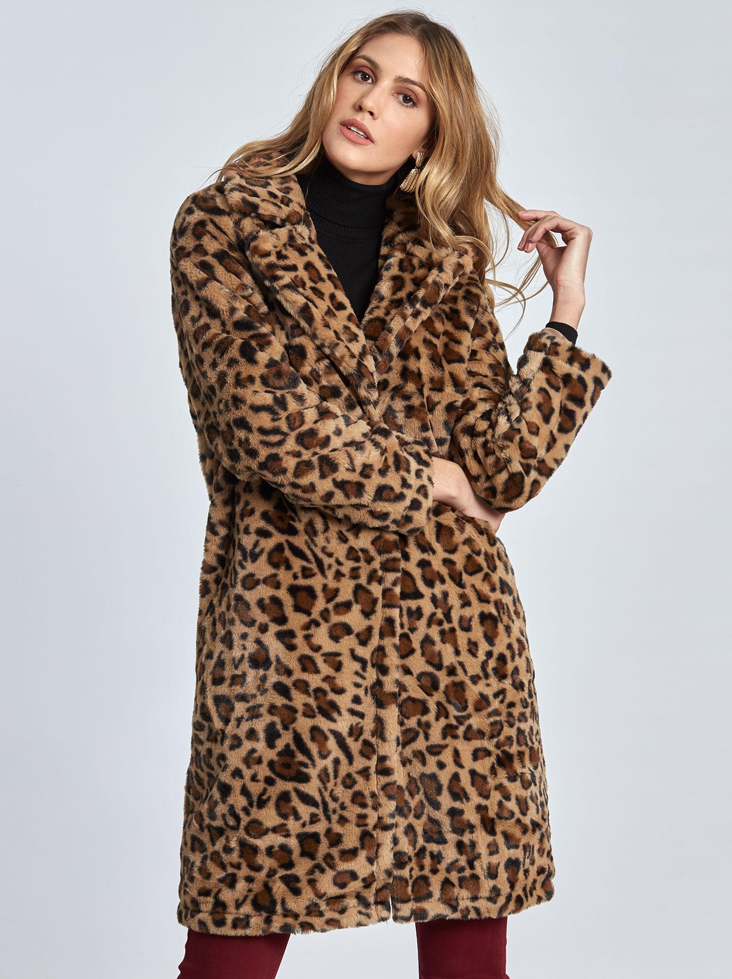 Λεοπάρ παλτό από συνθετική-οικολογική γούνα σε λεοπαρ 5d5d7565bb7