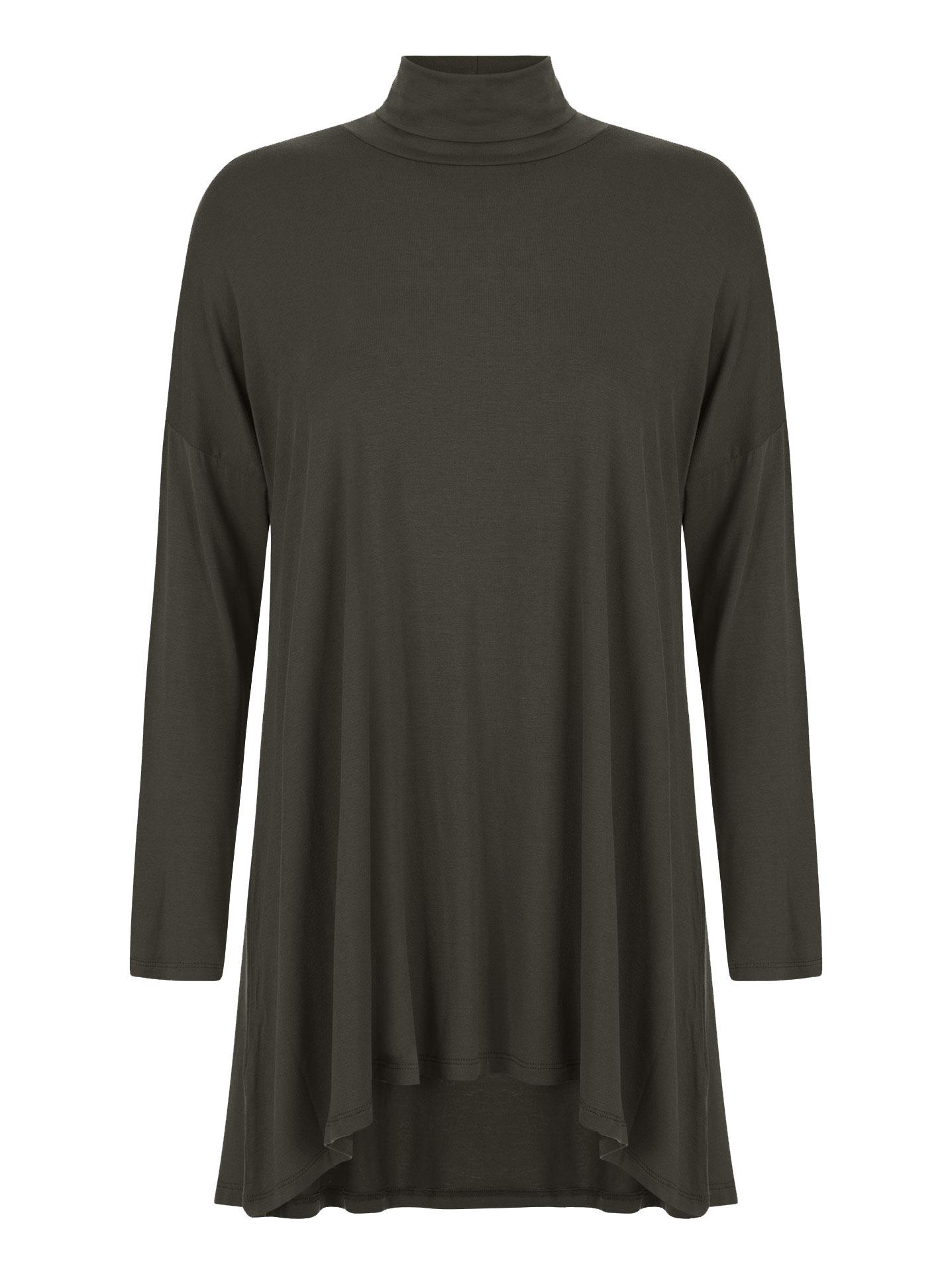 Μακριά ζιβάγκο μπλούζα curvy σε ανθρακι be557ab5088