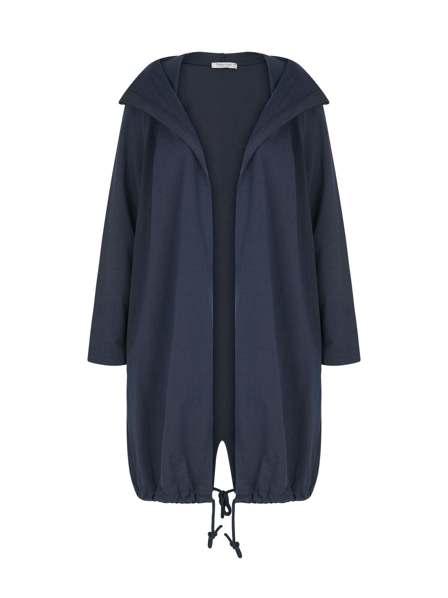 ce1036b2f2 Plus size hooded sweatshirt cardigan in dark blue