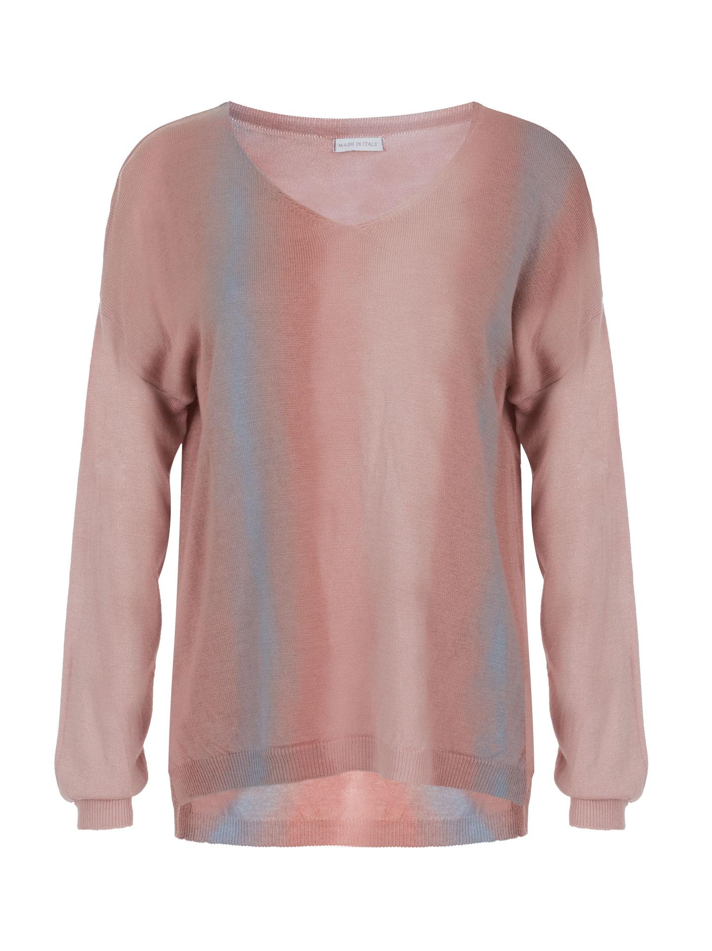 Fine-knit double-color sweater pink 4dd6d7c40
