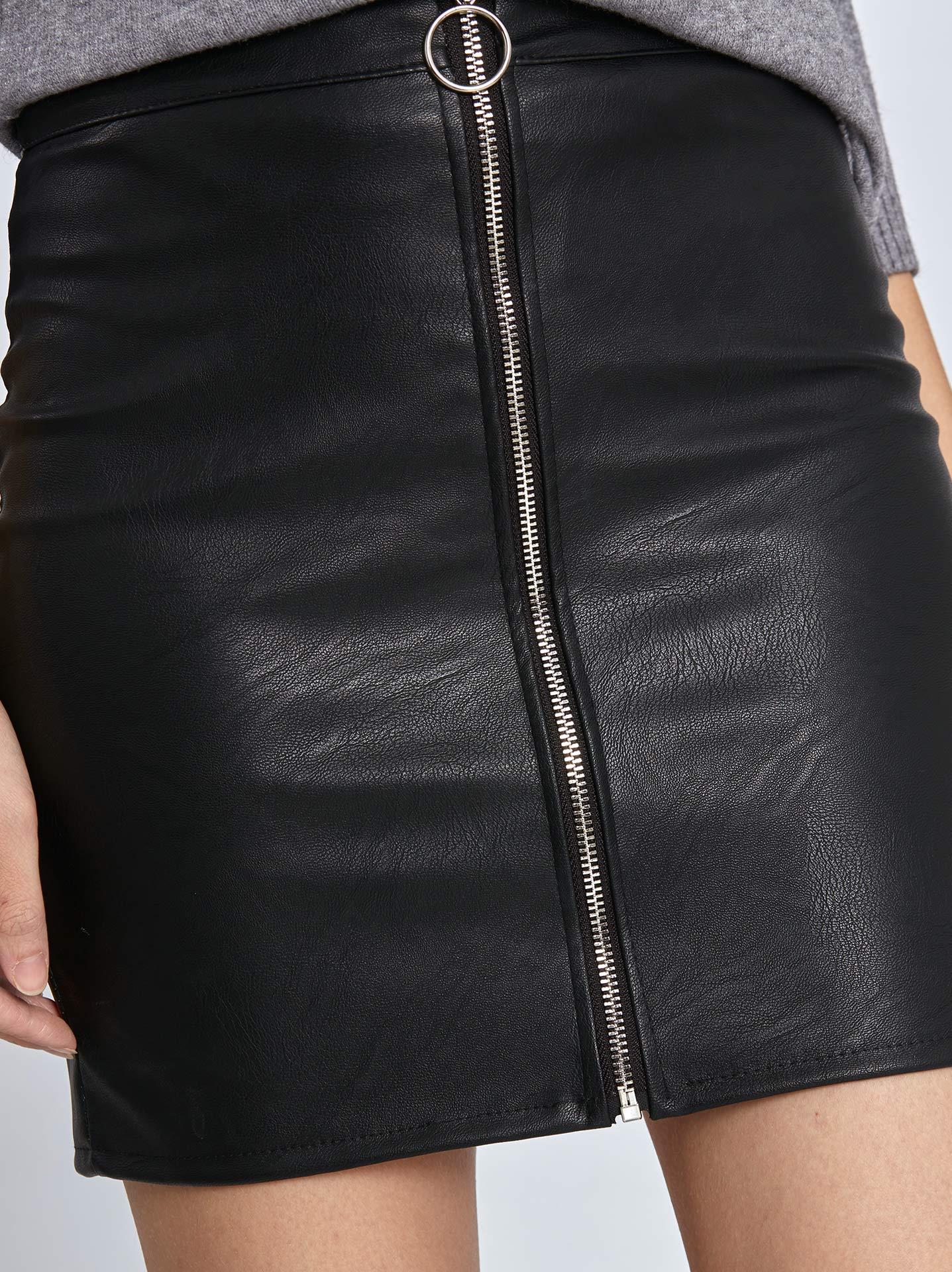 208005e137f Mini φούστα δερματίνη σε μαυρο, 7,95€ | Celestino